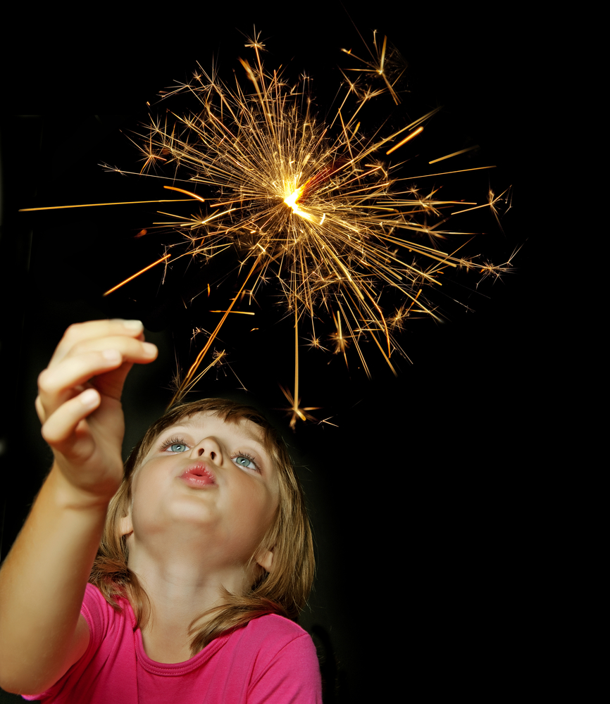 Girl-with-sparkler