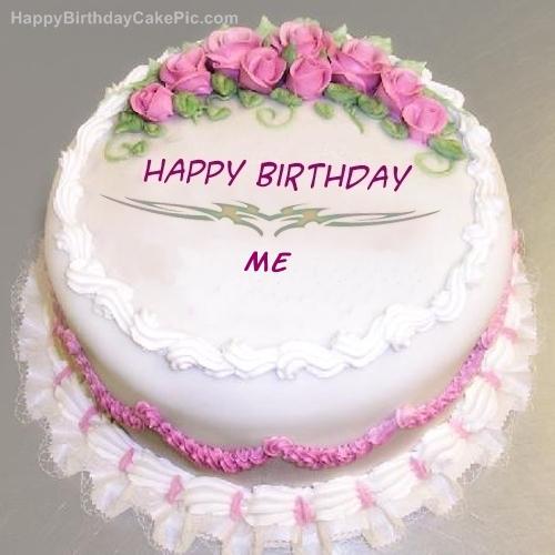 Pink Rose Birthday Cake For Me ખ લ આ ખન સપન